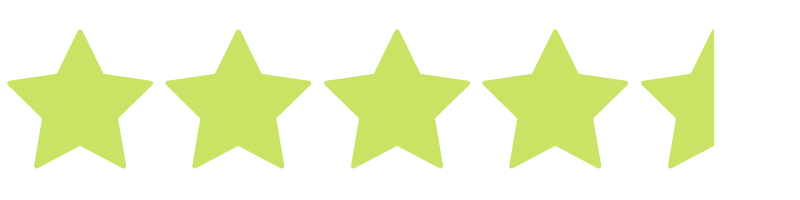4.5 stars - bright yellow green