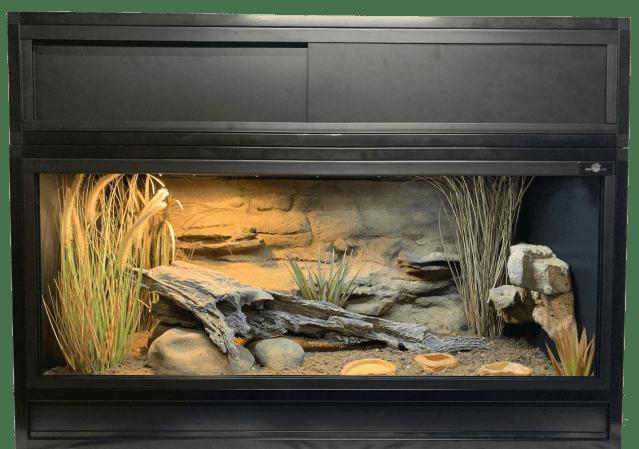 Decorated Maximum Reptile Essential 4 Enclosure with Hood