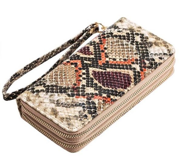 snake print wallet - gifts for reptile lovers 2019