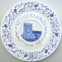 5 Hand painted wedding plate