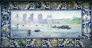 Albert Bridge tile panel