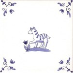 Delft Animal tile 14