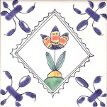 Delft flower tile 13