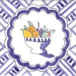 Fruit & Flowers Tile 20