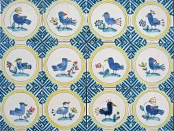 Bird and Flower tiles
