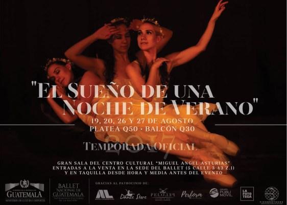 """El sueño de una noche de verano-Ballet Nacional de Guatemala-Gran Sala """"Efraín Recinos"""", del Centro Cultural-Miguel Ángel Asturias"""