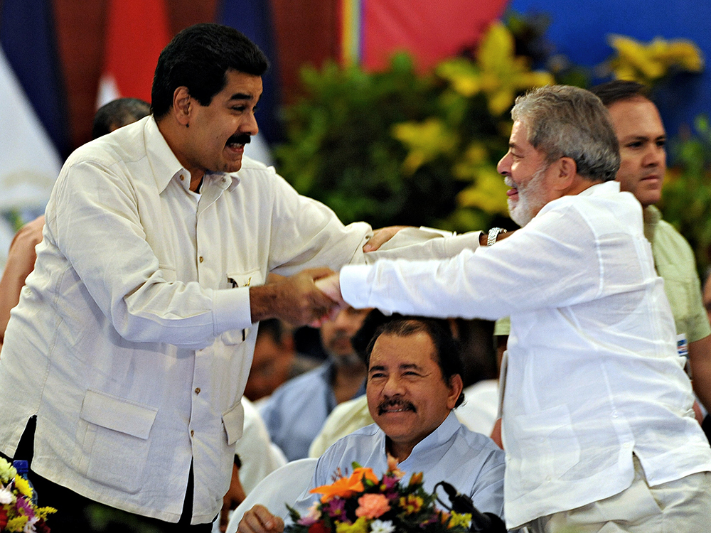 NICARAGUA-VENEZUELA-BRAZIL-POLITICS-SAO PAULO FORUM-LULA-MADUR