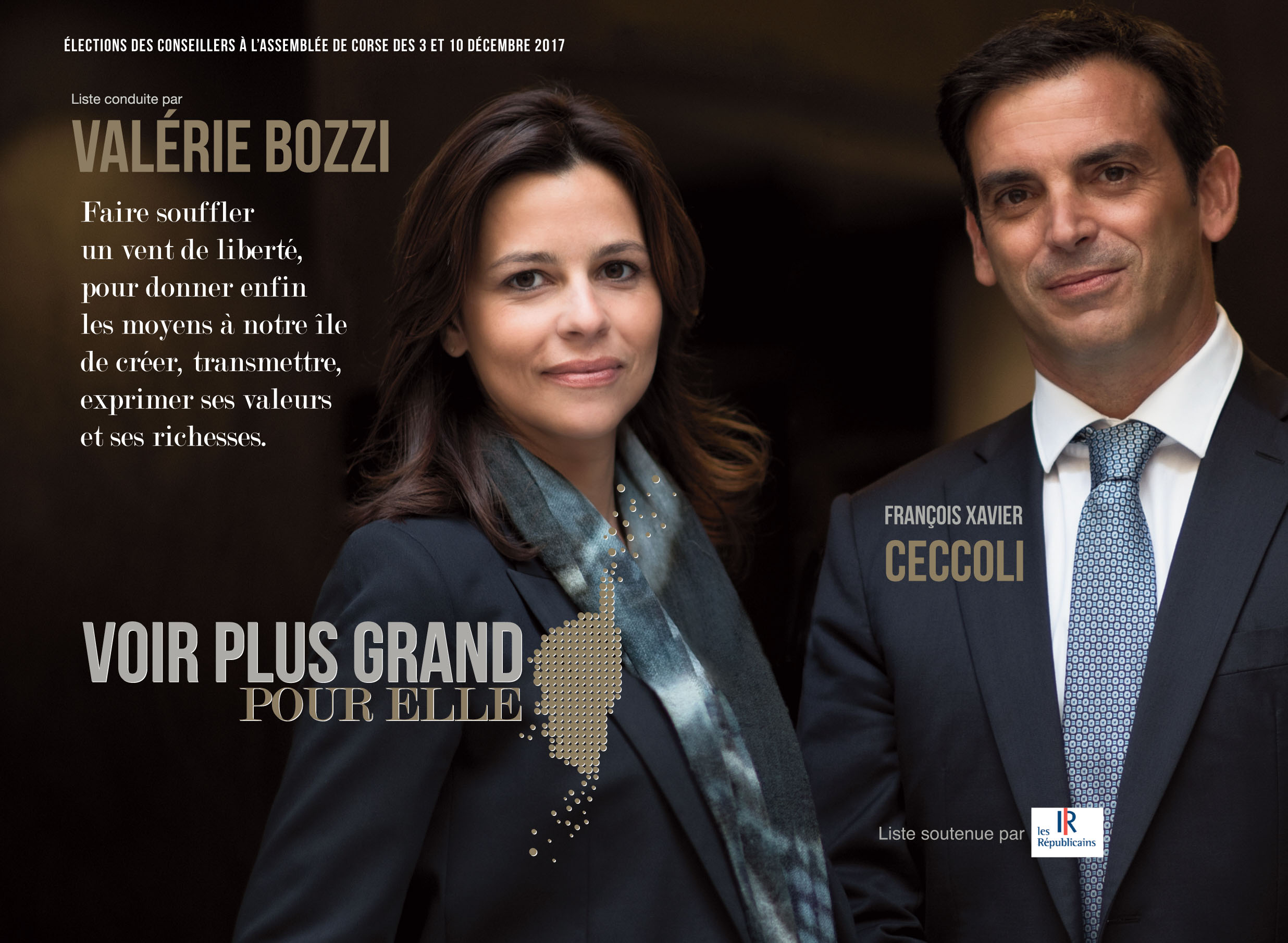 Valérie Bozzi en meeting à Ajaccio le jeudi 30 novembre.