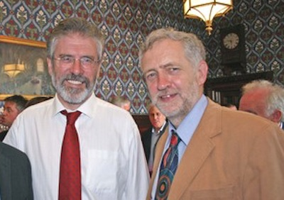 Hasil gambar untuk jeremy corbyn gerry adams