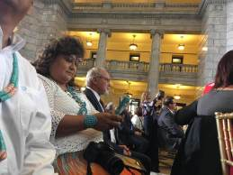 Native Americans from San Juan County supporting President Trump's announcement on Bears Ears.