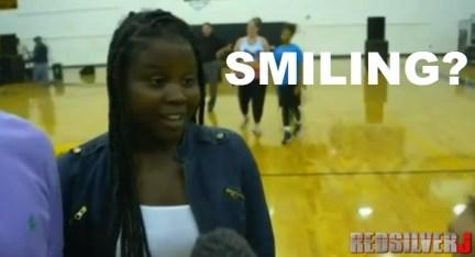 smiling daughter
