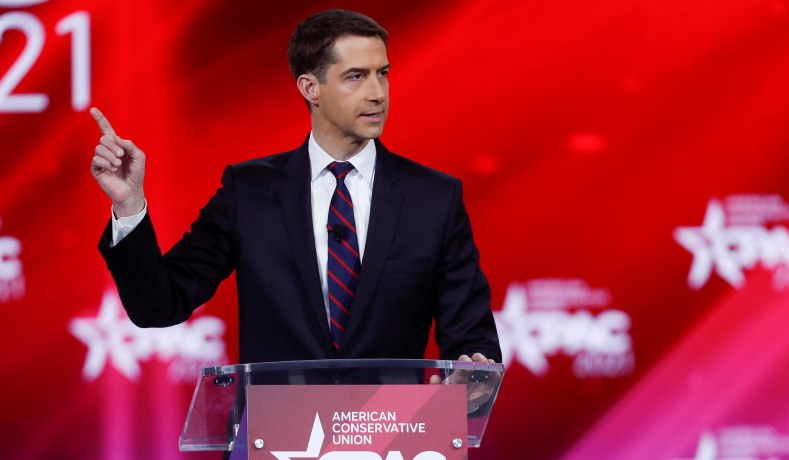 CPAC 2021: Tom Cotton Rips 'Total Meltdown' at NYT over Troops Op-Ed