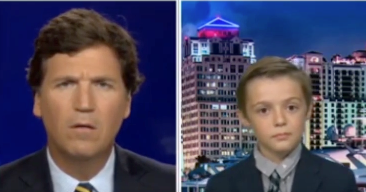 10-Yr-Old Who Spoke Against Mask Mandate in His School Does Hilarious Turn With Tucker Carlson – RedState