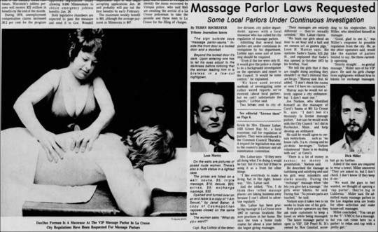 Cops Busted Dem Kind's Massage Parlor in Past