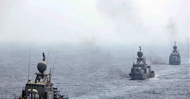 'Large Group' of Iranian Boats Harass Navy Ships in Hormuz Strait