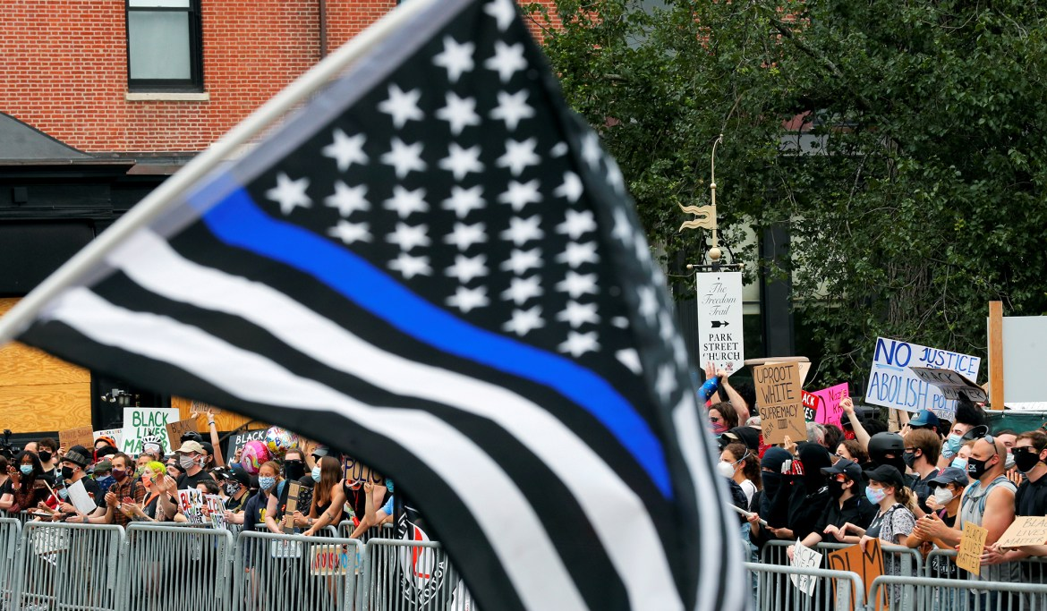 Pro-Police Flag: School Forced Teacher to Take Down Thin Blue Line Flag, Despite Allowing BLM Symbols