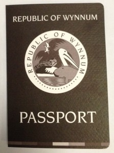 Republic of Wynnum passport front cover
