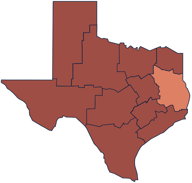 East Texas region