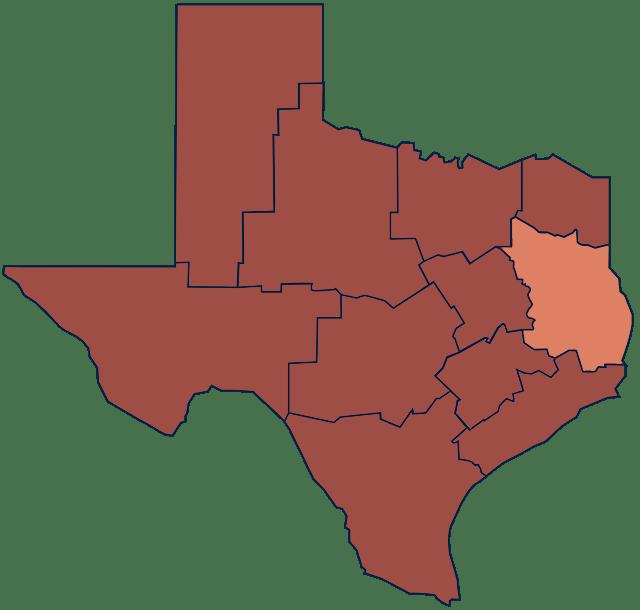 East Texas region