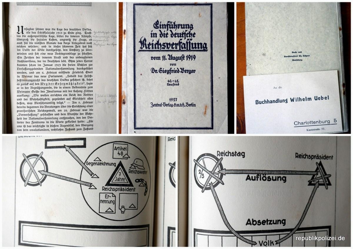 Einführung in die deutsche Reichsverfassung vom 11. August 1919