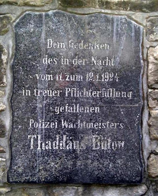 Netzfund: Gedenken an Thaddäus Bütow – Nachruf des Preußischen Polizeibeamten-Verbandes