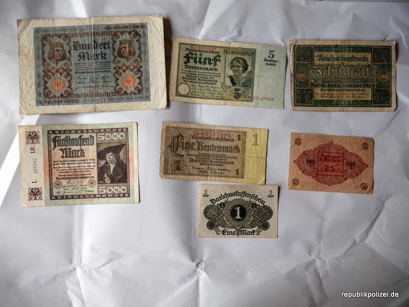 Geldscheine der Weimarer Republik