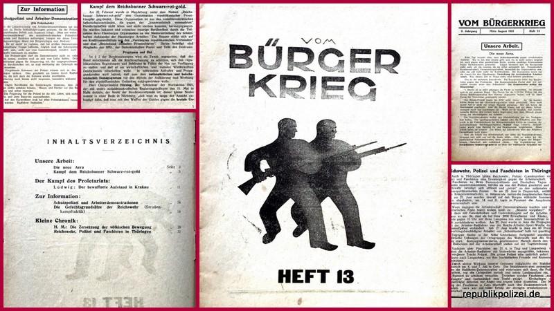"""KPD-Heft: """"Vom Bürgerkrieg"""" Mitte August 1924"""