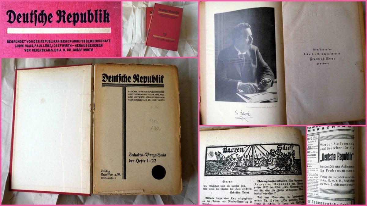 """Wochenzeitung: """"Deutsche Republik"""" Ausgabe 1 – 1926/27"""