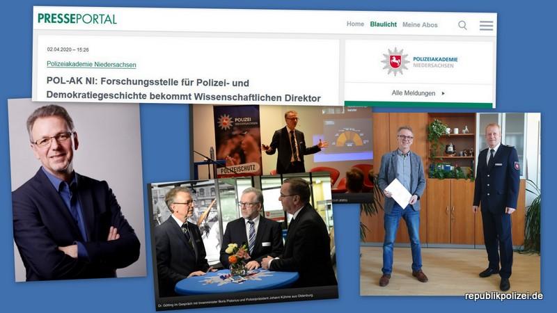 Wissenschaftlicher Direktor! Anerkennung und Aufwertung für die Arbeit der Forschungsstelle für Polizei- und Demokratiegeschichte Niedersachsen.