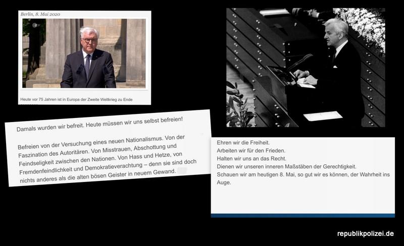 Reden zum Kriegsende. 2020 und 1985: