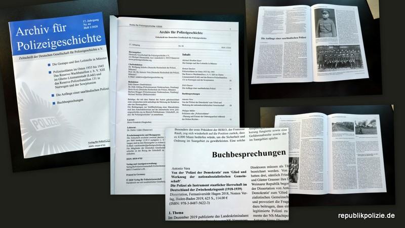 Heft 1/2020 ist da: Archiv für Polizeigeschichte