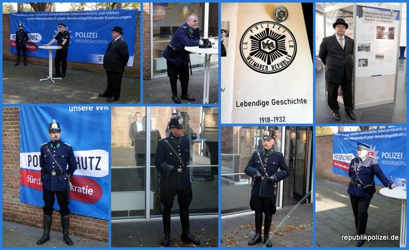 Living History in Hameln: Darsteller zu Besuch in der Polizeiausstellung im Kunstkreis Hameln.