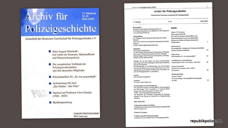 Nr. 45 – Archiv für Polizeigeschichte, Heft 2/2020 – Kurzvorstellung
