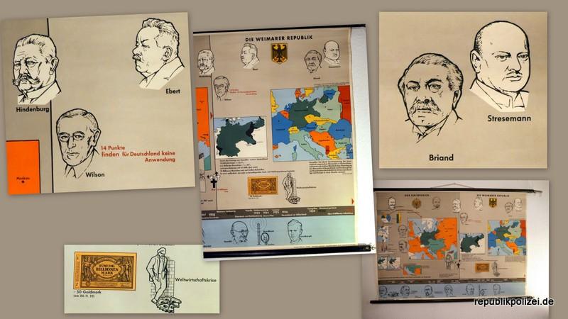Schulwandkarte (Teil 1): Das Kaiserreich – Die Weimarer Repubik