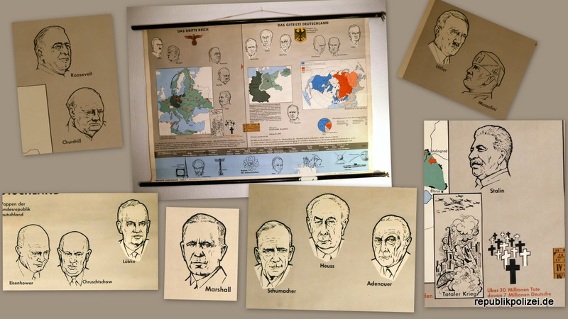 Schulwandkarte (Teil 2): Das Dritte Reich – Das geteilte Deutschland