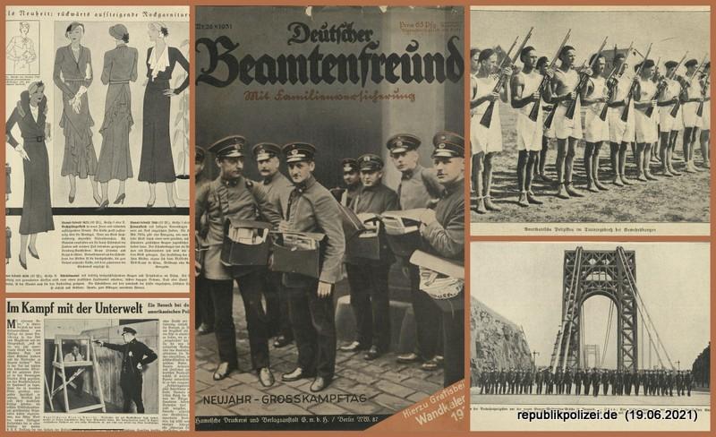 """Zeitschrift: """"Deutscher Beamtenfreund"""" Nr. 26 – 1931"""