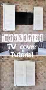 INDUSTRIAL PIPE SLIDING TV COVER TUTORIAL