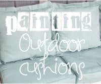 Painting Outdoor Cushions and fabric