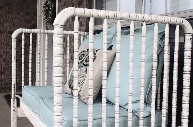 DIY Jenny Lind crib to bench or daybed