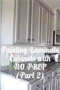 Painting Laminate Cabinets with NO PREP WORK