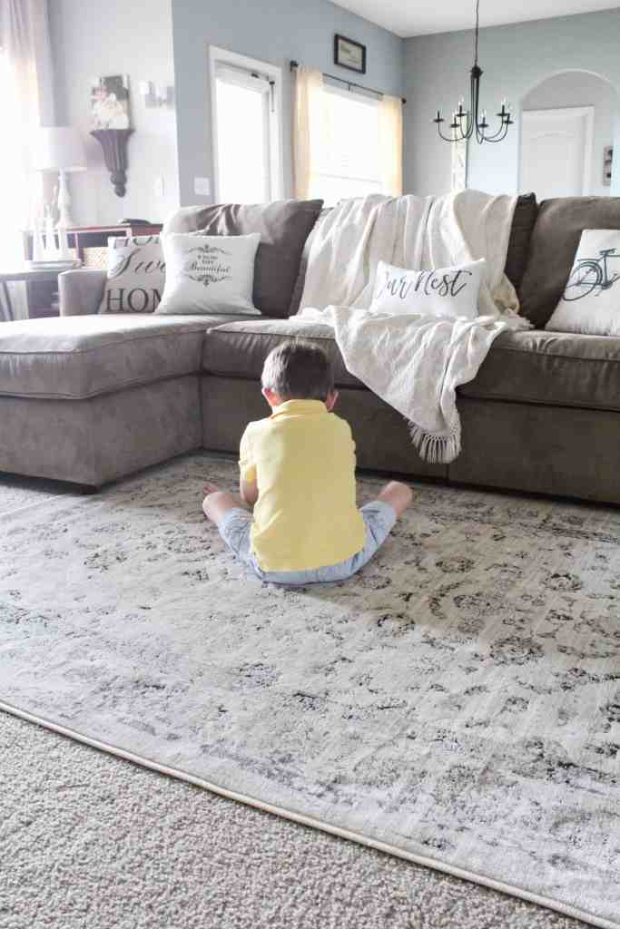 living room refresh and DIY drop cloth curtains 1