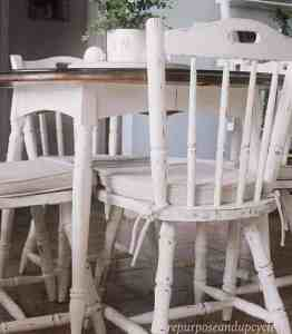Dining Room Table and Chair Chalk paint makeover