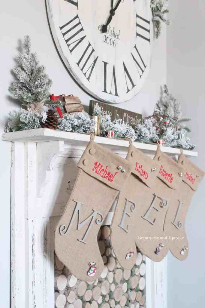A Christmas Holiday Home Tour 2017 by Repurpose and Upcycle