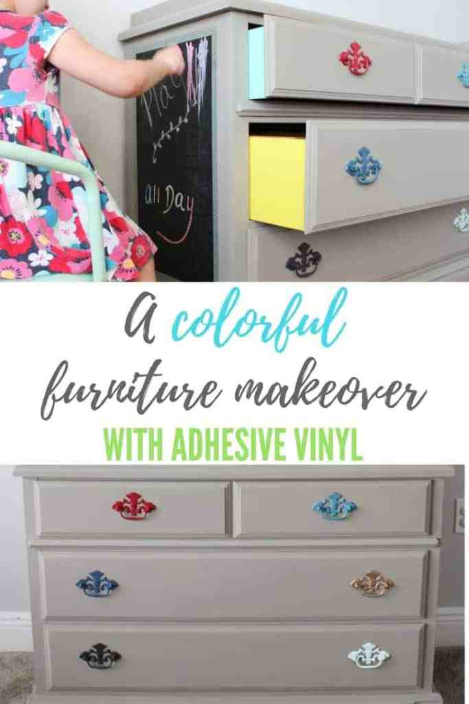 A colorful Furniture Makeover