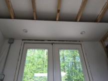 First living room soffit up.