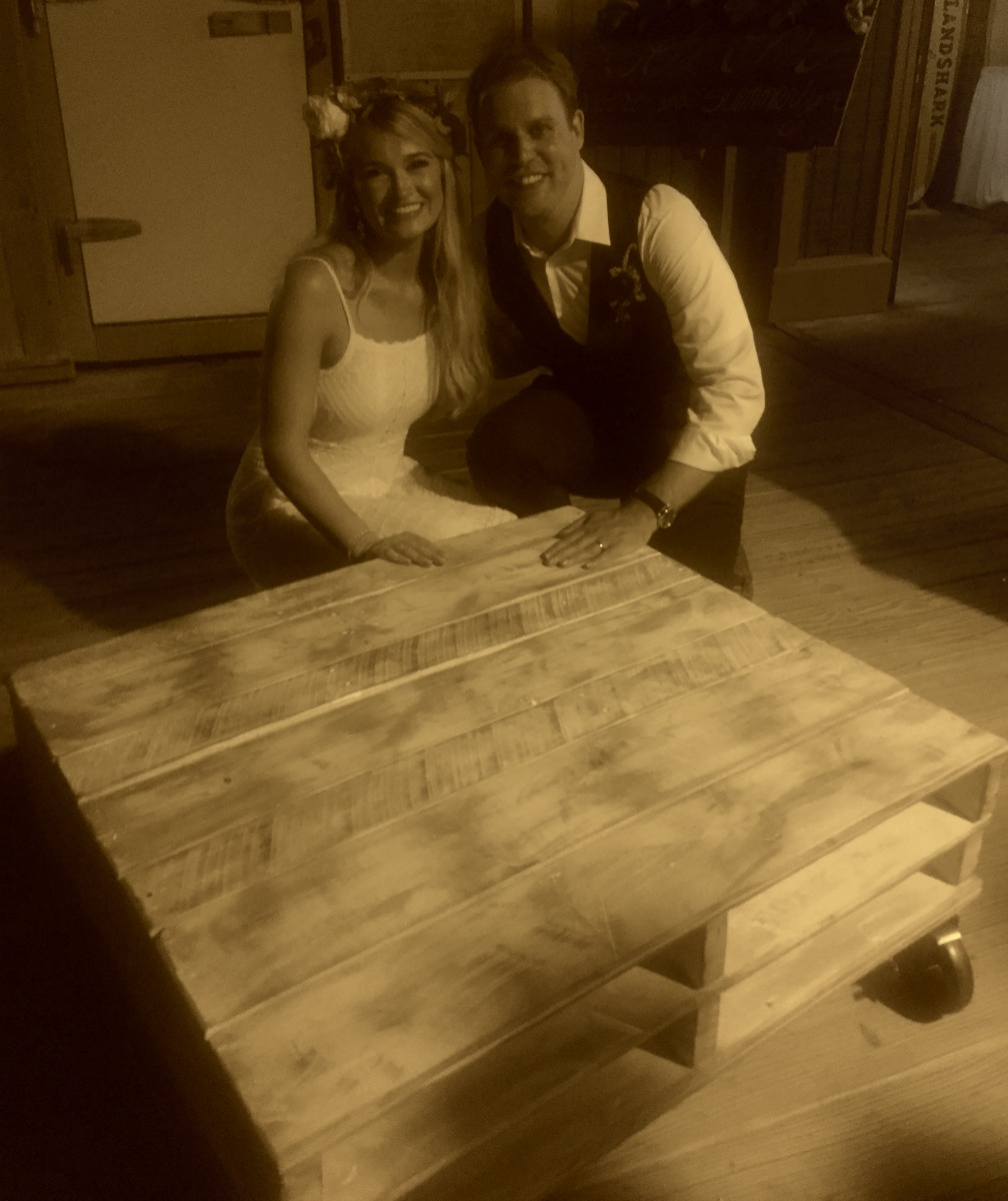 pallet coffee table wedding gift