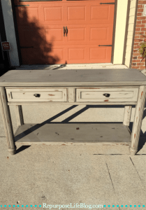 Updating an Old Sofa Table--How to Bring Life Back into an old furniture piece