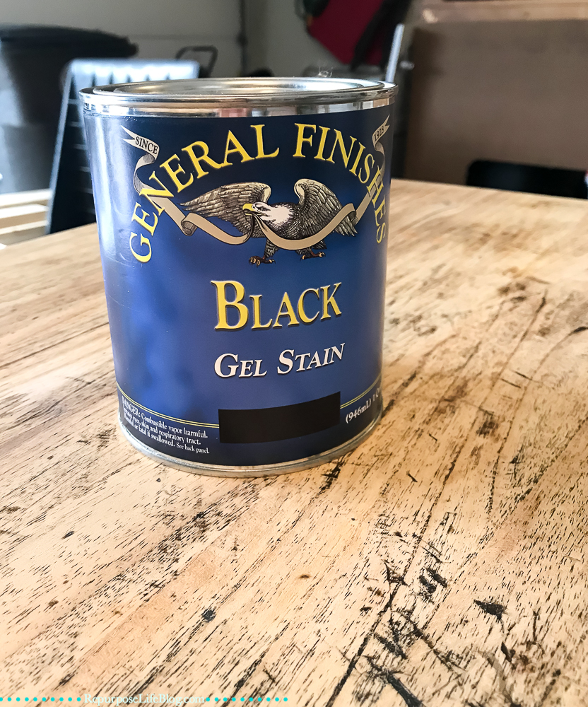 can of General Finishes Black Gel Stain