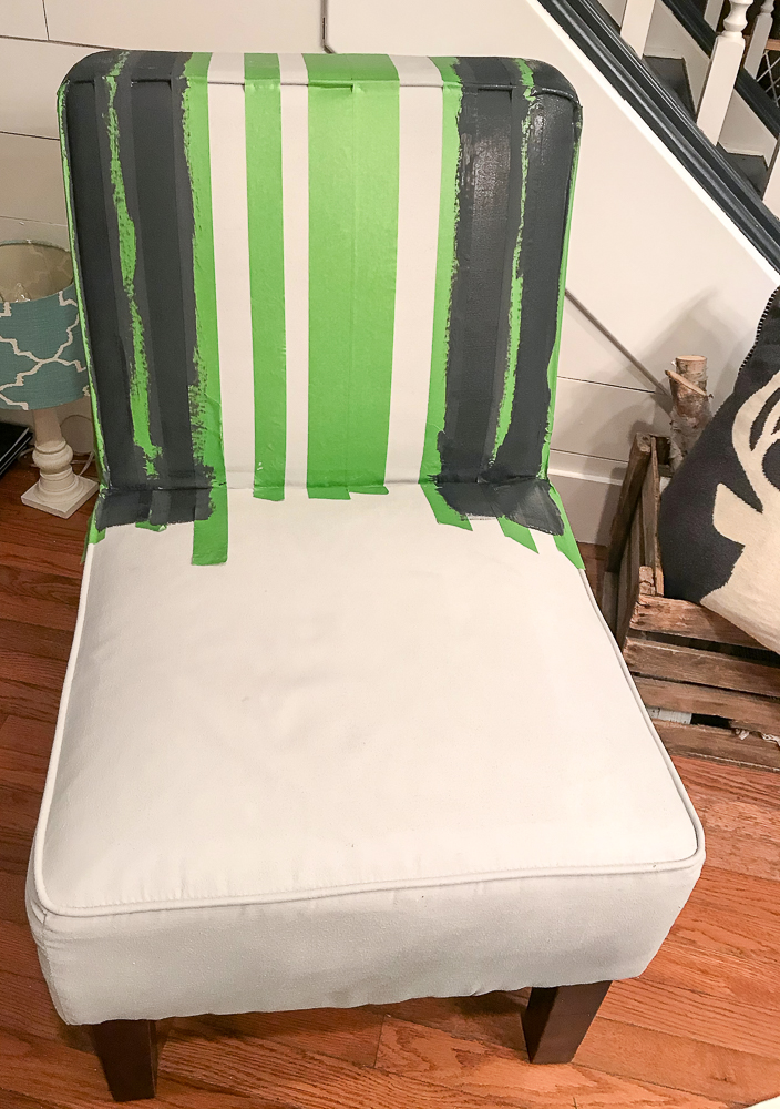 frog tape to make straight lines on furniture piece