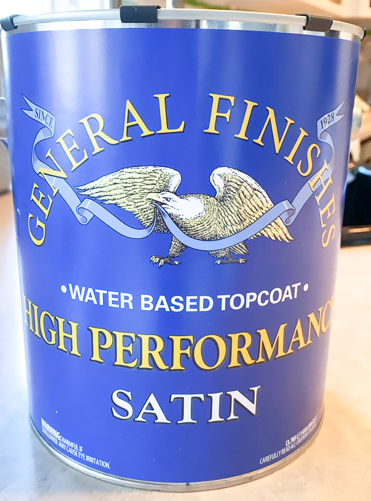 General Finishes can of Poly